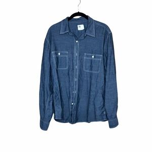 Ag Adriano Goldschmied chambray button down shirt